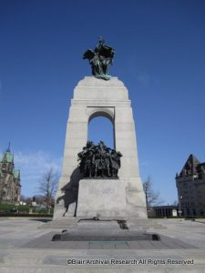 Ottawa War Memorial - First World War Side