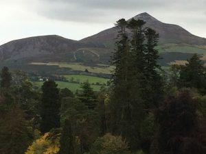 The Sugar Loaf in County Wicklow Ireland - The View from the Powerscourt Estate driveway.
