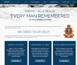 """Dieppe – Blue Beach Every Man Remembered The Royal Regiment of Canada"""